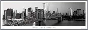 Manhattan - morning b&w Картини в рамка