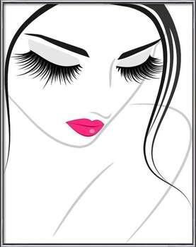 Lash extension beauty icon Картини в рамка