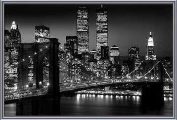 Manhattan - Night Картини в рамка