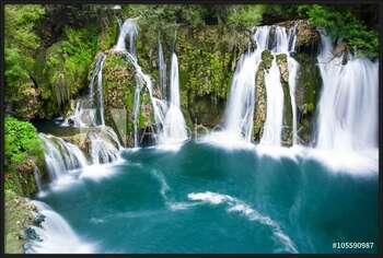 Waterfalls of Martin Brod on Una national park, Bosnia and Herzegovina Картини в рамка