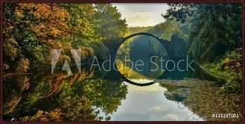 Amazing place in Germany - Rakotzbrucke also known as Devils Bridge in Kromlau Картини в рамка