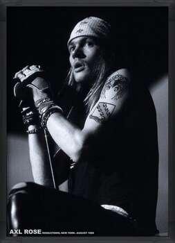 Плакат с рамка Guns N Roses (Axl Rose) - Middletown, New York, August 1988