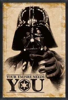 Плакат с рамка Star Wars - Your Empire Needs You