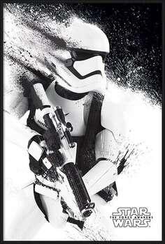 Плакат с рамка Star Wars Episode VII: The Force Awakens - Stormtrooper Paint