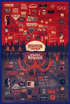 Плакат с рамка Stranger Things - The Upside Down