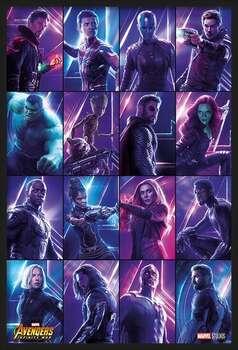 Плакат с рамка Avengers: Infinity War - Heroes
