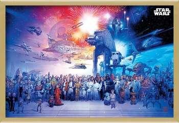 Плакат с рамка Star Wars - Universe