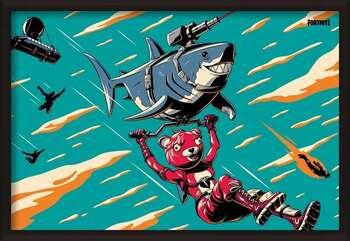 Плакат с рамка Fortnite - Laser Shark
