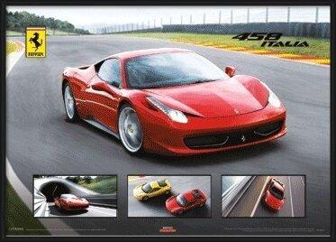 Ferrari 458 Italia - плакат (poster)