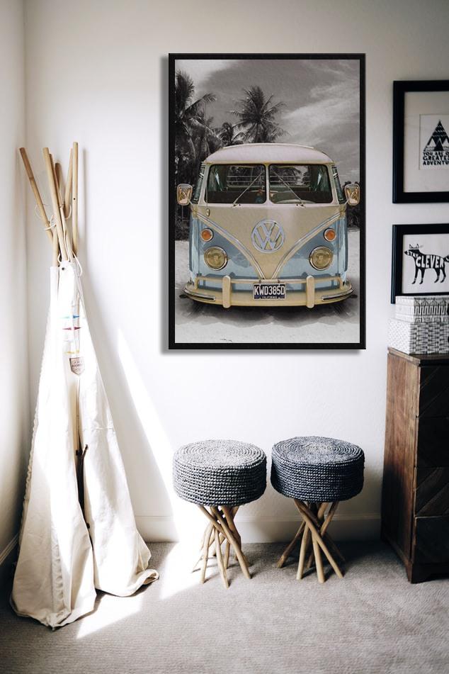 VW Volkswagen Californian - Route on плакат